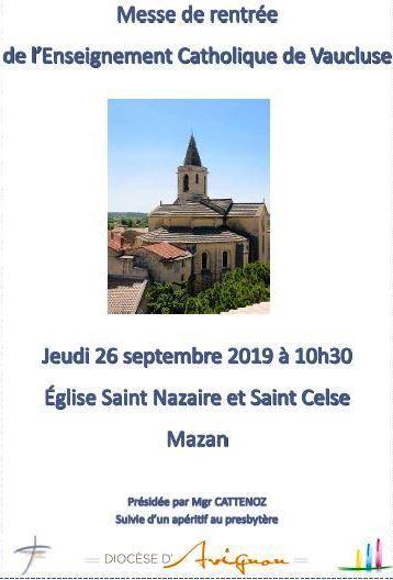 Messe de rentrée 2019
